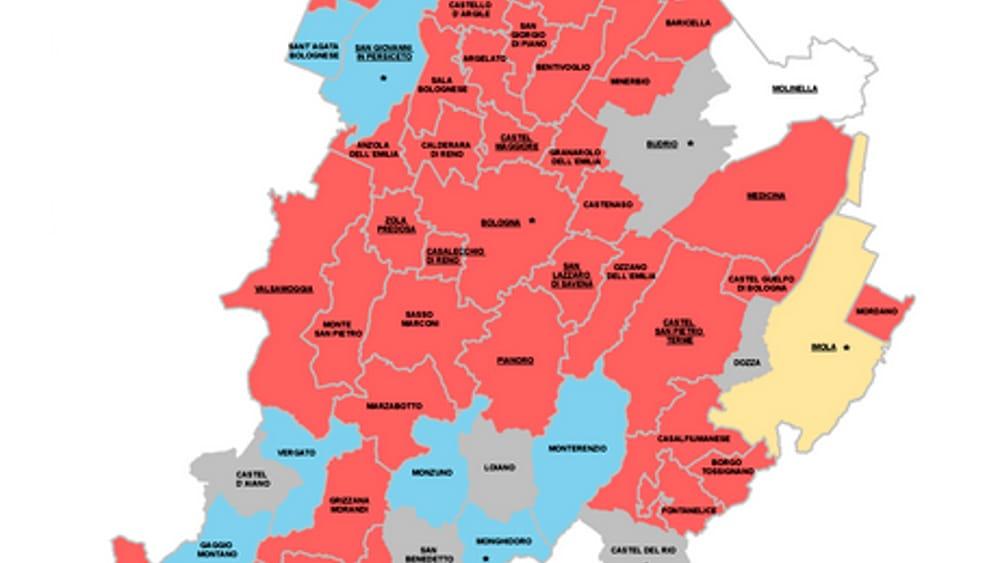 Provincia Bologna Cartina.Elezioni Comunali Numeri Curiosita E Come Cambia La Mappa Della Provincia Di Bologna