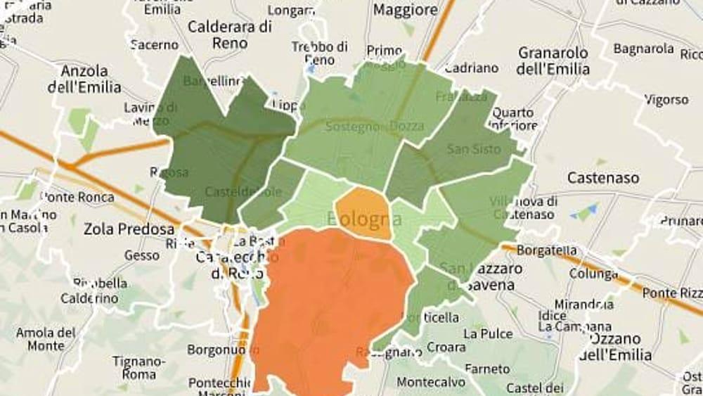 Bologna Cartina Quartieri.Vendita E Affitto A Bologna I Prezzi Delle Case A Bologna